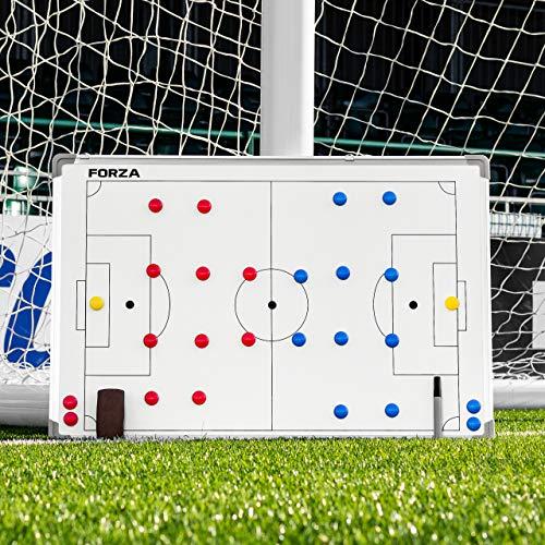 FORZA Pizarras de Tácticas de Fútbol | Pizarra Blanca para Entrenamientos (Incluye Marcadores Lavables) (90cm x 60cm Pizarra de Tácticas)