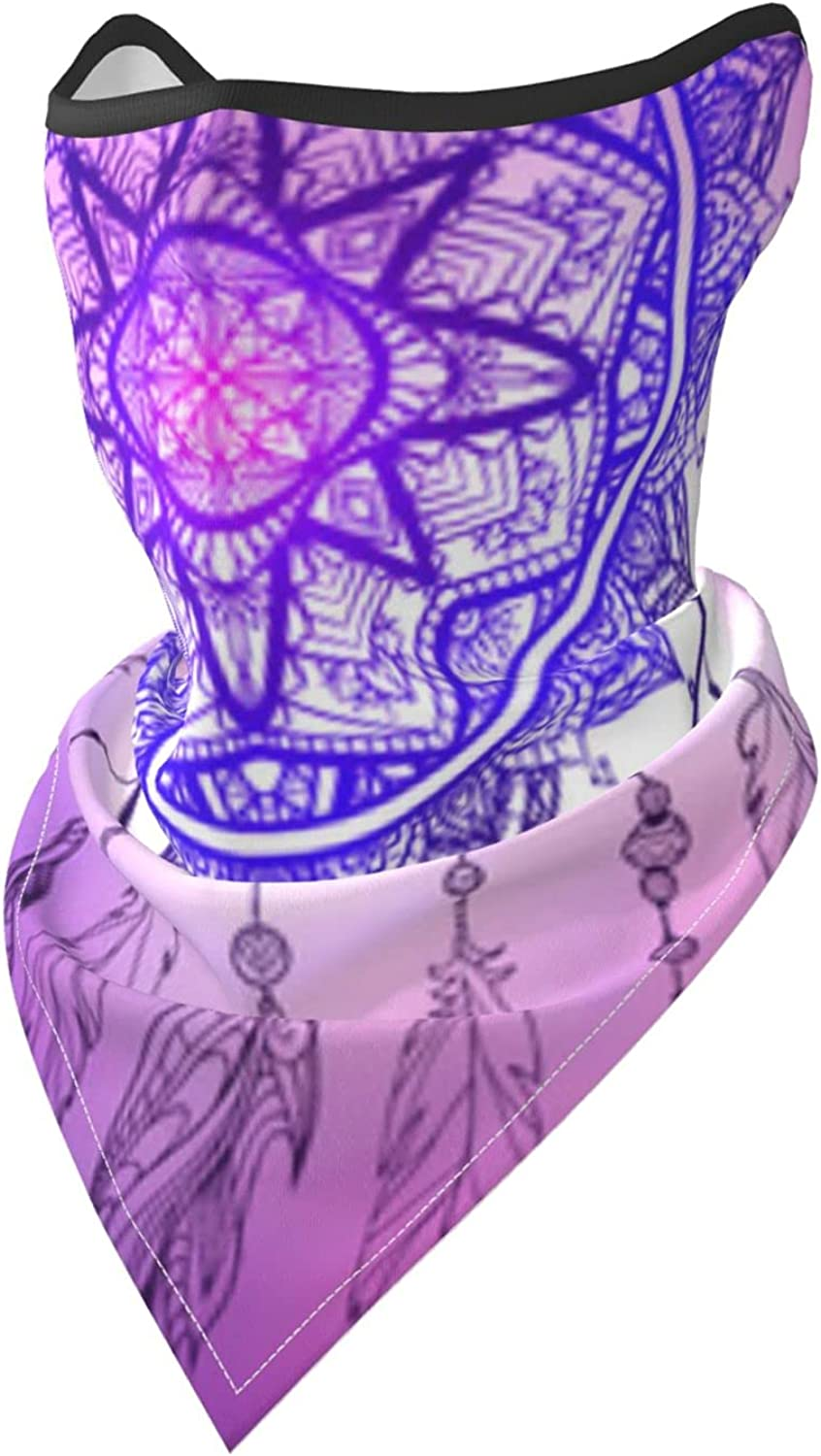 Dreamcatcher Boho Breathable Bandana Face Mask Neck Gaiter Windproof Sports Mask Scarf Headwear for Men Women Outdoor Hiking Cycling Running Motorcycling