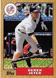 2017 Topps 87 Chrome Silver Promo Series 2 Refractors #87-DJ Derek Jeter Yankees MLB Baseball Card NM-MT
