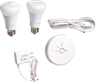 Philips 453761 Hue Lux 60W Equivalent A19 LED Personal Wireless Lighting Starter Kit