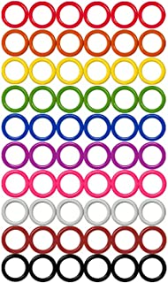 Colorful Iron O-rings & Stitch Ring Markers for knitting/crochet/etc, (Available in 14 sizes, Includes 10 colors, for knitting/crochet/etc (Large (Internal diameter 18mm), 60pcs)