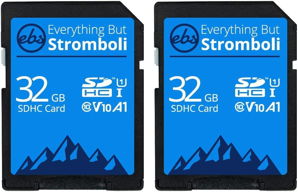 Everything But Stromboli 32GB SD Card (2 Pack) Speed Class 10 UHS-1 32G SDHC Memory Cards for Compatible Camera, Computer, Trail Cam, Video Camcorder