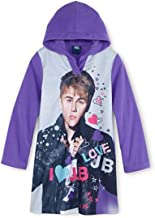 Justin Bieber I Love Jb Big Girls' Hooded Microfleece Nightgown