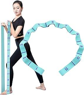 Locisne Sangle d'exercice élastique à 11 Chiffres,Sangle d'aide au Stretching Boucles numérotées,Sangle Extensible Facile ...