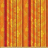 ABAKUHAUS Orange Microfaser Stoff als Meterware, Vertikale