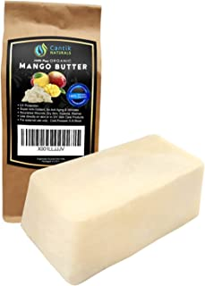 Mango Butter Organic Unrefined - Use Alone or in DIY Beauty Products, Body Butter, Lip Conditioner, DIY Lotion - 1LB Bar