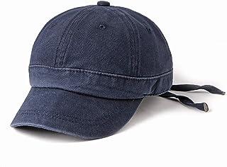 2019 Women Plain Sport Peaked Cap for Unisex Cotton Baseball Cap Adjustable 6 Panel Streamer Solid Color Sun Hat (Color : 3, Size : Free Size)