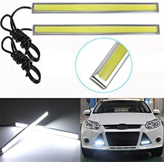 (Pack of 2) Car styling 17cm White COB LED DRL Daytime Running Light Car Fog Driving Lamp lights for Universal Car 100% Waterproof in rainy foggy day