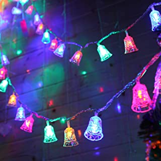 8.2ft Christmas String Lights Christmas Lights Decorations 20 LED Lights Battery Operated Indoor Outdoor Christmas Decor for Xmas Tree Lawn Patio Garden Home Wedding Party, Colorful(Jingle Bell)
