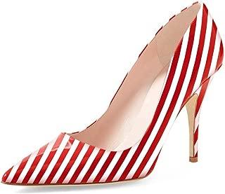 black white striped shoes
