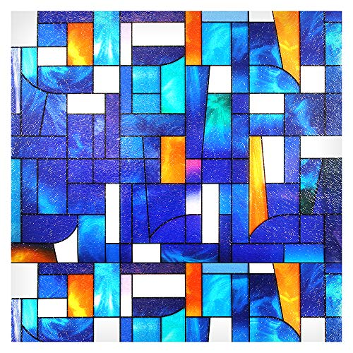 """Buydecorativefilm BDF 3ABST Window Film 3ABSTract Stained Glass (36"""" X 89 5/8"""" (3 Continuous Patterns))"""