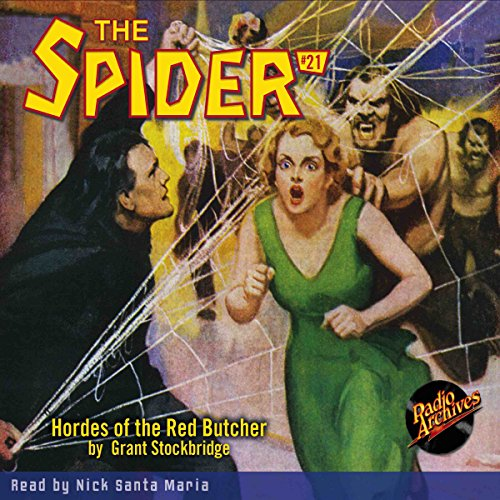 The Spider #21 audiobook cover art