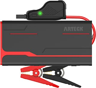 Arteck 800A Peak 18000mAh Car Jump Starter (up to 7.0L Gas, 5.5L Diesel engine) with LCD Screen, USB Quick Charge, 12V Auto Battery Booster, Portable Power Pack with Built-in LED light