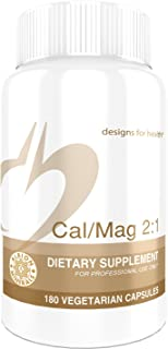 Designs for Health Cal/Mag 2:1-150mg Chelated Magnesium Malate + 300mg Calcium (180 Capsules)