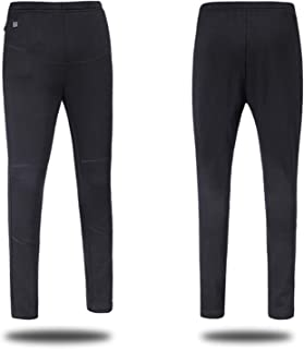 Decdeal USB Heated Pants Women Rechargeable Slim thickening Heated Baselayer Pants