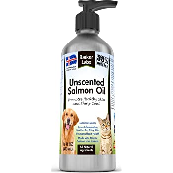 Salmon Fish Oil for Dogs & Cats - Natural & Unscented Omega 3 Gives Your Pet the Coat That Will Make Other Pet Owners Envious