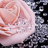 Blulu 2000 Stück 6 mm Plexiglas Diamant Streuung Diamantkristalle Dekosteine Hochzeit Crystal Tisch Confetti Tischschmuck Tischdeko - 2