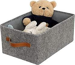 Blanket Clothes Storage-Gray-Normal code-Gray Xbopetda Canvas Dog Toy Basket Basket for Toys