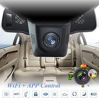 Cámara oculta DVR para coche de Lonshell Full HD 1080p grabadora de vídeo ángulo muy amplio de 170° con visión nocturna Dash Cam Súper Visión Nocturna Cámara de Coche