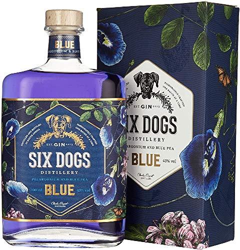 Six Dogs Gin Blue [Perlagonium and Pea] (1 x 0.7 l)