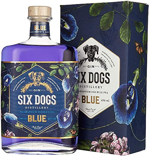 Six Dogs Gin Blue [Perlagonium and Pea] (1 x 0.7 l)