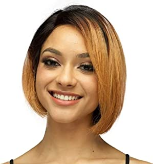 Eliana Short Bob Wigs Lace Front Wigs for Black Women 1B/27# Human Hair 13 x 4 Lace Front Straight Wigs With Baby Hair Pre Plucked and Bleached Knots 150% Density Natural Hairline