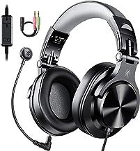 هدست های رایانه ای OneOdio با میکروفون - هدفون های سیم دار بیش از گوش PC با بی صدا کنترل درون خط