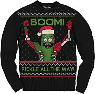 Rick and Morty Boom Pickle Rick Adult Sweater