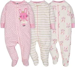 Gerber Onesies Baby Girl Sleep N' Play Sleepers 3 Pack