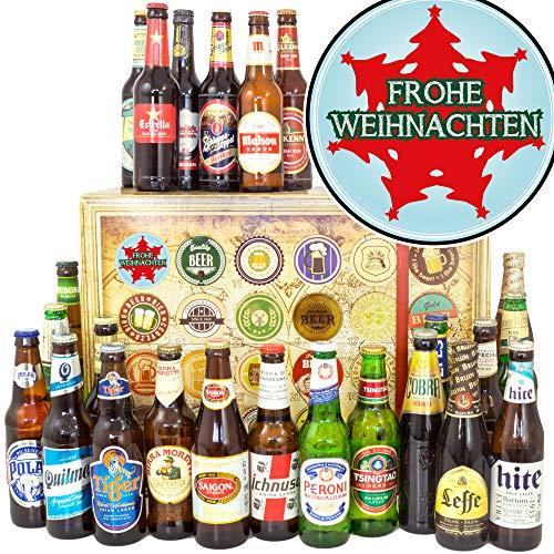 Tannenbaum | Bier aus aller Welt 24x | Geschenke Set Weihnachten