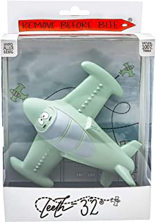 Chewy, The Teeth-32 Airplane Teething Toy 100% Natural Havea Rubber