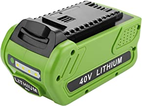 Energup 40V 5.0Ah Replacement Lithium Battery for GreenWorks 29472 29462 Battery GreenWorks 40V G-MAX Power Tools 29252 20202 22262 25312 25322 20642 22272 27062 21242 (Not for Gen 1)