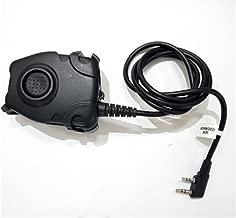 Waterproof PTT Cable For Kenwood/ICOM/Midland Plug for Z Tactical Comtac II H50 SORDIN H60HD01 Noise Reduction Headset Z112,PTT with tactical headphones, Headset adapter, Outdoor headphones(Z112-KEN)