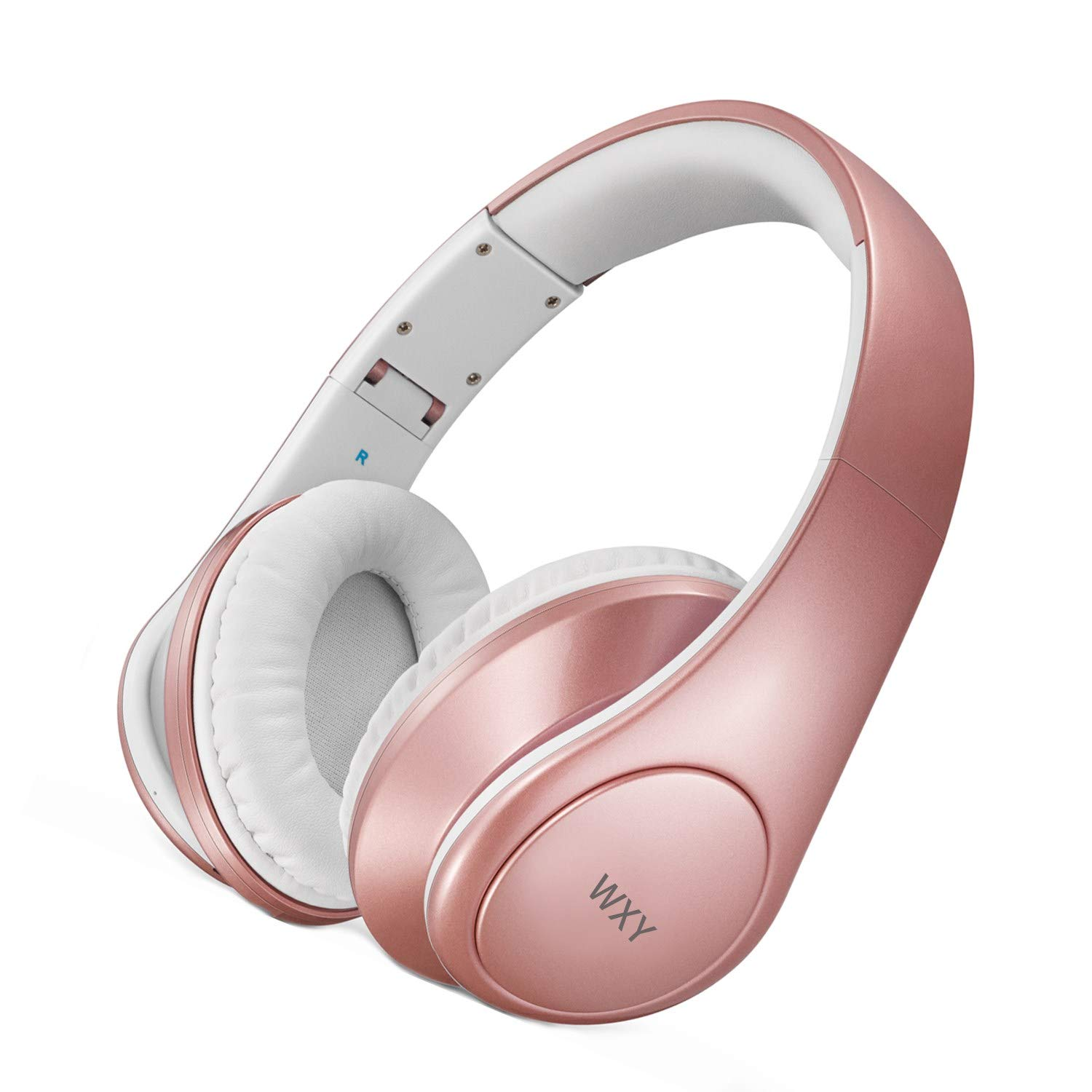 Wireless Headphones Wxy Hi Fi Stereo Bluetooth Headphones Over Ear With Built In Mic 25 Hrs Playtime Soft Memory Protein Earmuffs And Foldable For Travel Work Pc Tv Cellphone And Kids Rose Gold