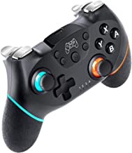 Wireless Controller for Nintendo Switch, with Adjustable Turbo shooting, 6-axis gyro sensor Double shock, PC Compatible Jo...
