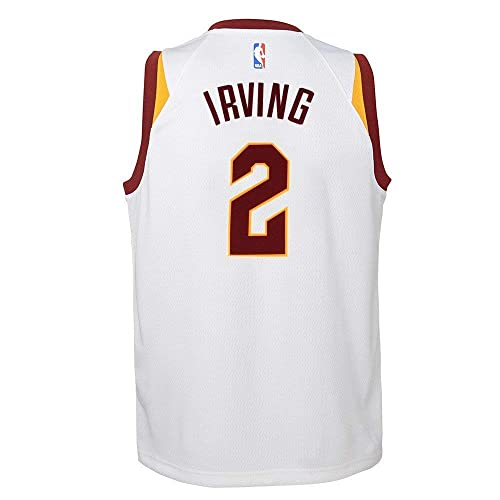 d111183ff NIKE Kyrie Irving Cleveland Cavaliers NBA White Home Swingman Jersey