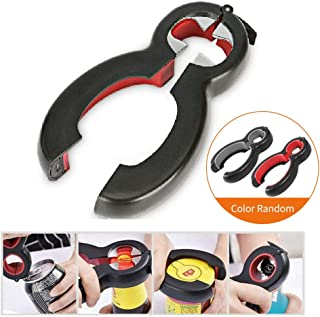 Bottle Can and Jar Opener, Fu Store 6-in-1 Multi Can Bottle Opener Kitchen Tool Lid Seal Remover (PP)