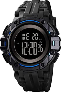 Boys Digital Sports Watch LED Screen Transformers Style Electronic Wristwatch for Kids with Waterproof Stopwatch Alarm EL Light Outdoor Watches