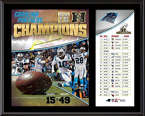 """Carolina Panthers 2015 NFC Conference Champions 12"""" x 15"""" Sublimated Plaque - NFL Team Plaques and Collages"""