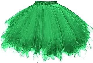 Ksnnrsng Damen Tüllrock tütü Rock 50er Rockabilly Petticoat Tutu Unterrock Kurz Ballett Tanzkleid Cosplay Ballkleid Abendkleid