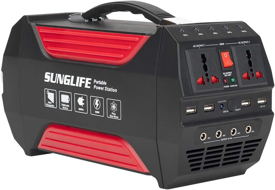 SUNGLIFE 500W Portable Generator 78000mAh Power レビューを書けば送料当店負担 280Wh Station 送料込