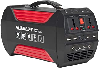 SUNGLIFE 500W Portable Generator, 280Wh 78000mAh Power Station, Backup Lithium Battery Power Supply 110V Pure Sine Wave AC Outlet, QC3.0 USB, 12V DC Outport, Flashlight for Camping, Home, Emergency