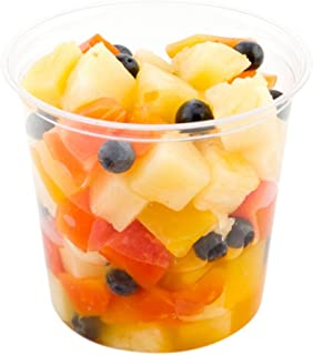 24 oz PLA Plastic To-Go Container - Clear Round Deli Bowl - Compostable and Biodegradable - Lids Available - 500ct Box - B...