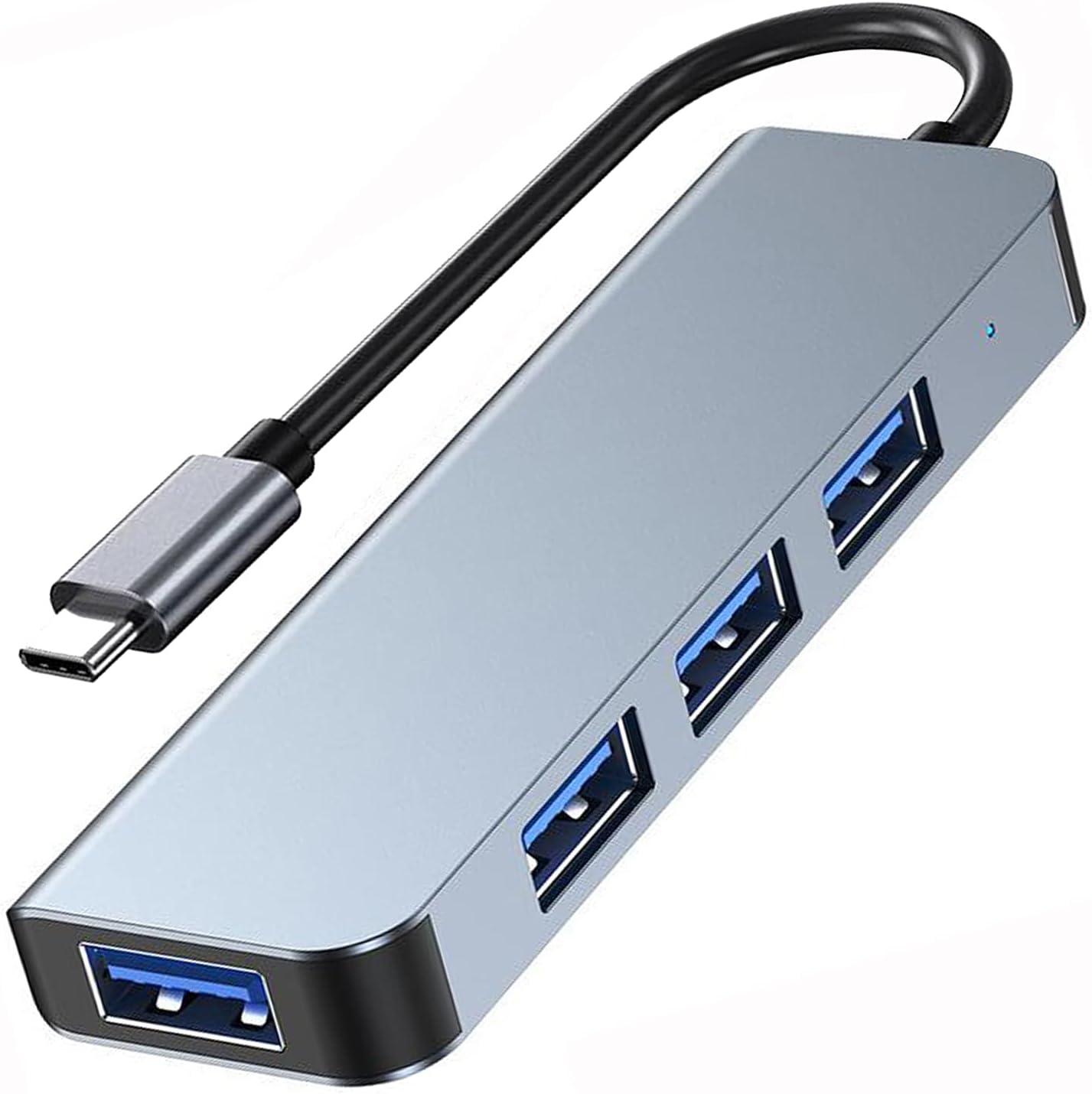 VikTck USB C to USB Hub 4 Ports,USB Type C to USB 3.0 Hub Adapter Thunderbolt 3 to USB Hub for MacBook Pro,iMac,iPad Pro,Surface Pro,Google,Chromebook,XPS,Notebook PC,Drives,Mobile HDD and More