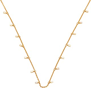 Jewelick IGI Certified 0.15ctw Clear Diamond (Color G-H, Clarity SI-I1) 14k Solid Yellow Gold Necklace Fine Jewelry Afford...