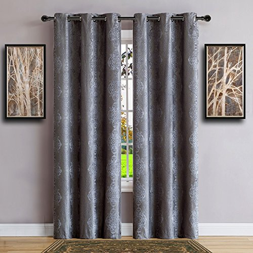 Warm Home Designs Pair of Longer Length 37' x 96' Royal Navy Blue 100% Blackout Isolated Thermal Bedroom Curtains. Total Blackout Curtains Contain 2 Panels in Each Package. JE Navy 37 x 96