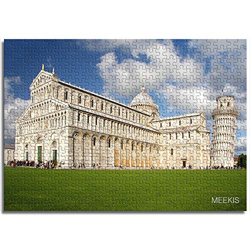 OKJK Mini Jigsaw Puzzles for Adults Child 1000 Piece Leaning Tower of Pisa Puzzle Paper toy Diy modern mural unique gift home decoration 38x26cm