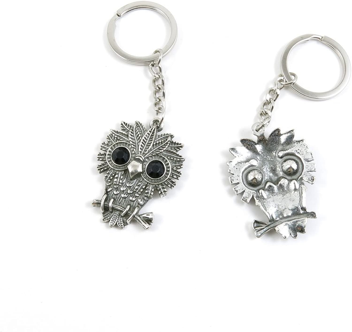 100 Pieces Keychain Keyring Door Car Key Chain Ring Tag Charms Bulk Supply Jewelry Making Clasp Findings L6QY9U Owl