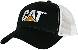 Caterpillar CAT Equipment Black & White Twill Mesh...