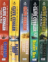 Clive Cussler: Oregon Files Collection of 8 Paperback Volumes: Corsair; Plague Ship; Skeleton Coast; The Silent Sea; The Jungle; Sacred Stone; Golden Buddha; Dark Watch